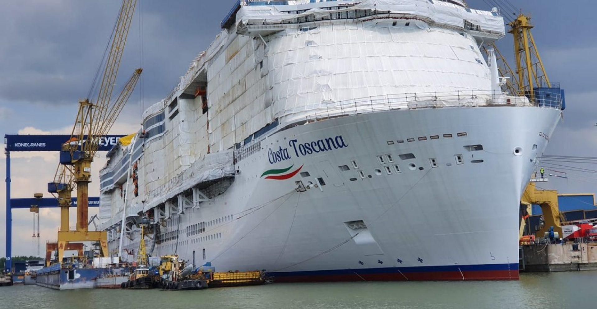 Costa Toscana cruise ship construction